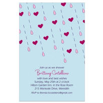 It's Raining Love Custom Bridal Shower Invitation