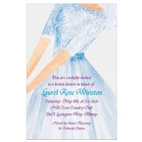 Watercolor Bride Custom Bridal Shower Invitation