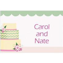 Custom Modern Wedding Cake Wedding Thank You Notes