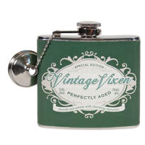 Vintage Vixen Birthday Flask