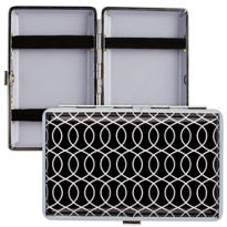 Black Print Metal Wallet