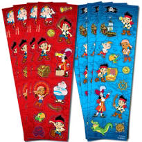 Jake and the Never Land Pirates Stickers 8 Sheets