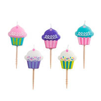 Cupcake Toothpick Birthday Candles 5ct
