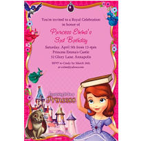 Sofia the First Custom Invitation