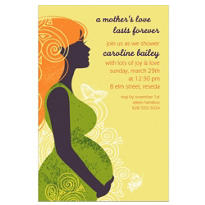 Earth Mama Neutral Custom Invitation