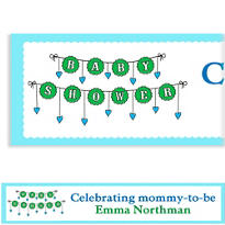 Baby Clothesline Boy Custom Banner