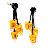 Candy Corn Drop Earrings
