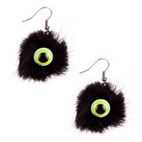 Marabou Eyeball Earrings