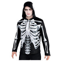 Adult Black & Bone Hoodie - Skeleton