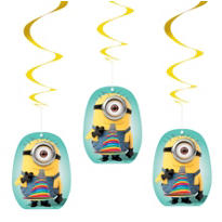 Despicable Me Swirl Decorations 3ct