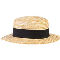 Roaring '20s Straw Skimmer Hat