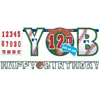 MLB Baseball Birthday Banner
