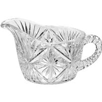 CLEAR Plastic Crystal Cut Creamer