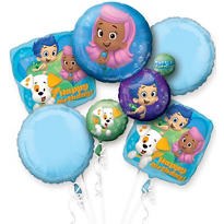 Happy Birthday Bubble Guppies Balloon Bouquet 5pc