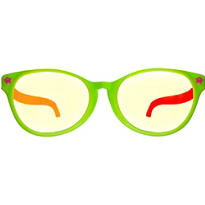 Black Light Neon Fun Glasses