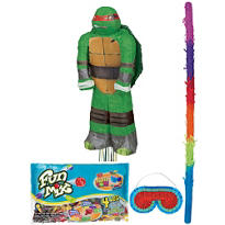 Pull String Raphael Teenage Mutant Ninja Turtles Pinata Kit