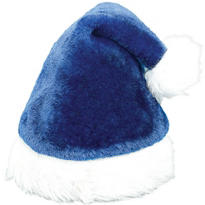 Plush Blue Santa Hat