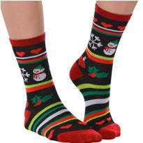 Ugly Christmas Sweater Crew Socks