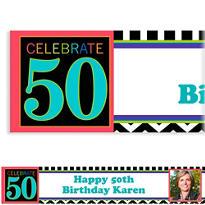 50th Celebration Custom Photo Banner