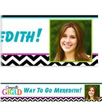 Bright Congrats Grad Custom Photo Banner