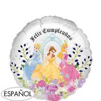 Feliz Cumpleanos Disney Princess Balloon - See Thru