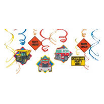 Tonka Truck Swirl Decorations 12ct