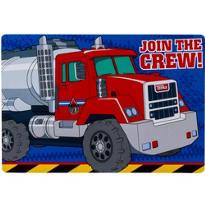 Tonka Truck Invitations 8ct