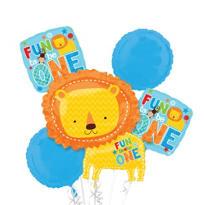 1st Birthday Balloon Bouquet - One Wild Boy Lion