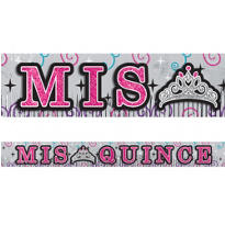 Glitter Mis Quince Quinceanera Fringe Banner
