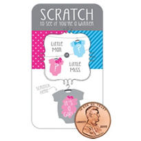 Girl, Gender Reveal Scratch-off Baby Shower Game