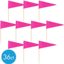 Bright Pink Cupcake Picks 36ct