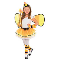 Girls Candy Corn Fairy Costume
