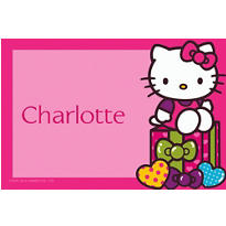 Hello Kitty Rainbow Custom Thank You Note