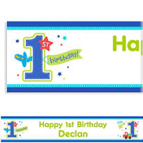 All Aboard Birthday Custom Banner