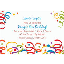 Colorful Birthday Custom Invitation