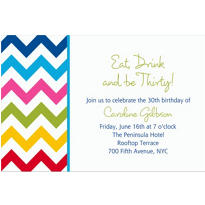 Bright Chevron Custom Invitation