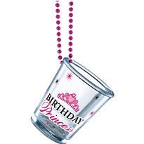 Birthday Princess Shot Glass Bead Necklace