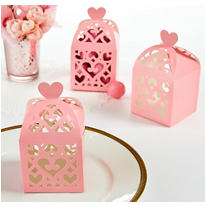 Light Pink Lantern Favor Boxes