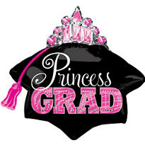 Princess Grad Tiara Graduation Balloon