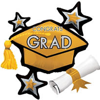 Gold Star Graduation Cap Graduation Balloon