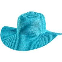 Caribbean Blue Floppy Straw Hat