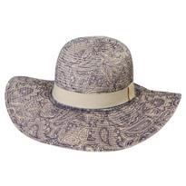 Paisley Floppy Straw Hat