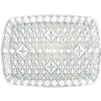 Clear Plastic Crystal Cut Tray 10in x 15in