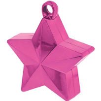 Bright Pink Star Balloon Weight
