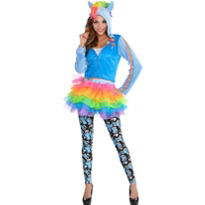 Adult Cozy Rainbow Dash Costume - My Little Pony