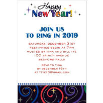 Cheers to a New Year Custom Invitation