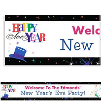 Ring in the New Year Custom Banner