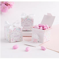Gender Reveal Baby Girl Favor Boxes 24ct