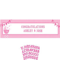 Girl Baby Shower Giant Personalized Banner - Celebrate