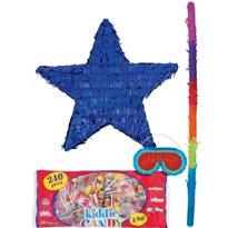 Foil Blue Star Pinata Kit
